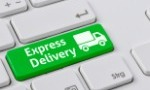 Green express delivery keyboard button